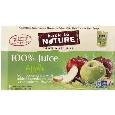 Back to Nature 100% Apple Juice, 6 fl oz, 8 count, (Pack of 5)