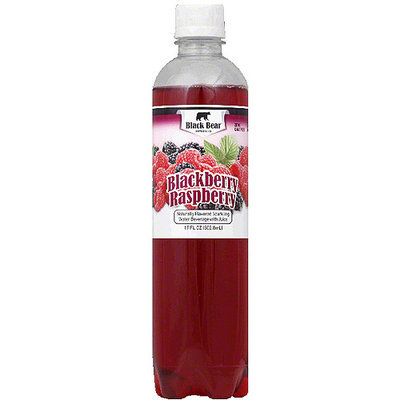 Black Bear Blackberry Raspberry Sparkling Water, 17 fl oz, (Pack of 12)