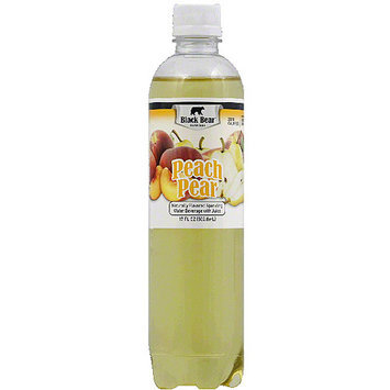 Black Bear Peach Pear Sparkling Water, 17 fl oz, (Pack of 12)