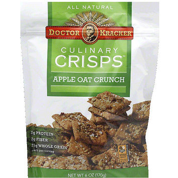 Doctor Kracker Culinary Crisps Apple Oat Crunch Crackers, 6 oz, (Pack of 6)
