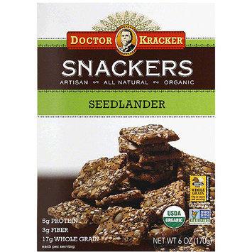 Doctor Kracker Seedlander Snackers Crackers, 6 oz, (Pack of 6)