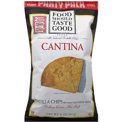 Food Should Taste Good Cantina All Natural Tortilla Chips, 11 oz, (Pack of 12)