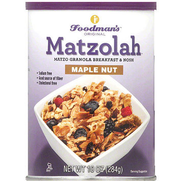 Foodman's Matzolah Maple Nut Granola Breakfast & Nosh, 10 oz, (Pack of 6)
