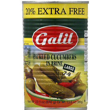 Galil Large Pickled Cucumbers in Brine, 23 fl oz, (Pack of 12)