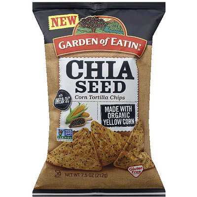 Garden of Eatin' Chia Seed Corn Tortilla Chips, 7.5 oz, (Pack of 12)