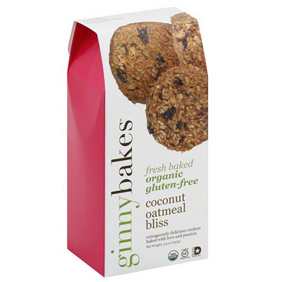ginnybakes Coconut Oatmeal Bliss Gluten Free Cookies, 5.5 oz, (Pack of 8)