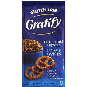 Gratify Sea Salt Twists Gluten Free Pretzels, 14.1 oz, (Pack of 6)