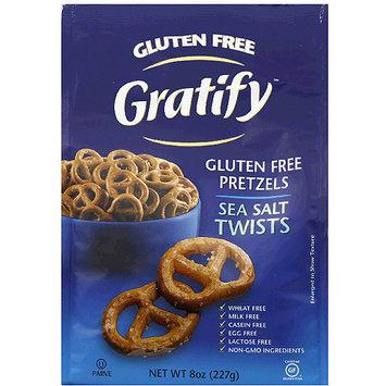 Gratify Gluten Free Sea Salt Twists Pretzels, 8 oz, (Pack of 6)