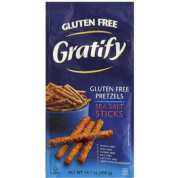 Gratify Gluten Free Sea Salt Sticks Pretzels, 6 oz, (Pack of 6)