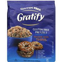 Gratify Gluten Free Sesame Seed Thins Pretzels, 6 oz, (Pack of 6)