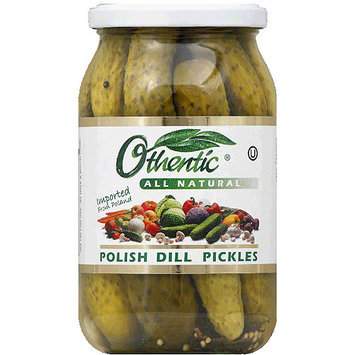 Othentic All Natural Polish Dill Pickles, 30.4 fl oz, (Pack of 6)