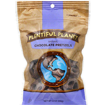 Plentiful Planet Natural Chocolate Pretzels, 8 oz, (Pack of 6)
