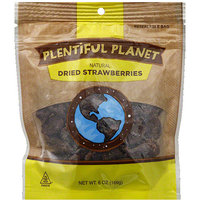 Plentiful Planet Natural Dried Strawberries, 6 oz, (Pack of 6)