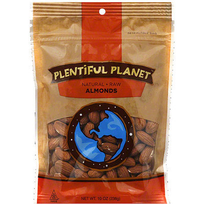 Plentiful Planet Raw Almonds, 10 oz, (Pack of 6)