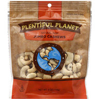 Plentiful Planet Raw Jumbo Cashews, 6 oz, (Pack of 6)