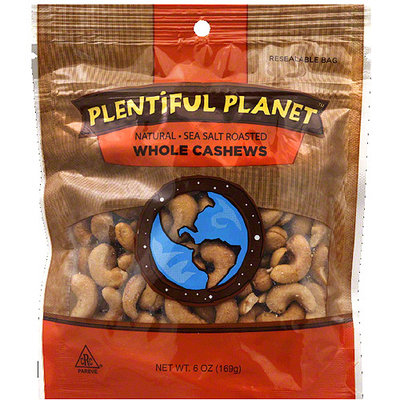 Plentiful Planet Whole Cashews, 6 oz, (Pack of 6)