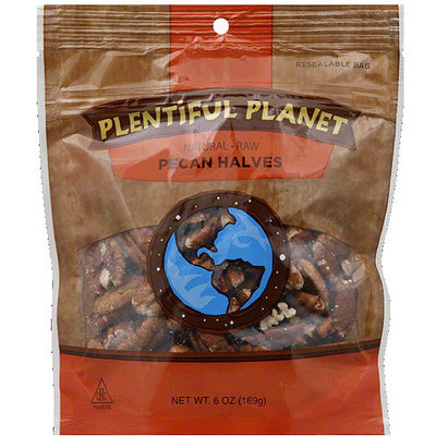 Plentiful Planet Pecan Halves, 6 oz, (Pack of 6)