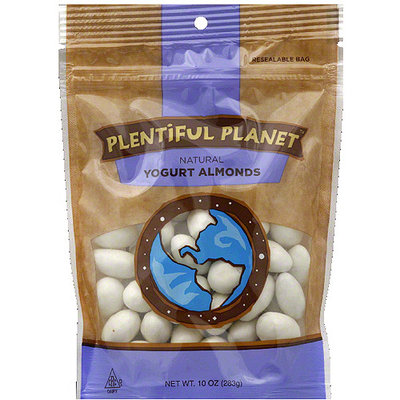 Plentiful Planet Yogurt Almonds, 10 oz, (Pack of 6)