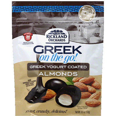 Rickland Orchards Greek on the Go! Greek Yogurt Coated Almonds, 5.5 oz, (Pack of 6)