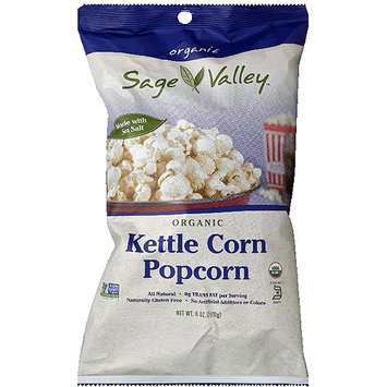 Sage Valley Organic Kettle Corn Popcorn, 6 oz, (Pack of 12)