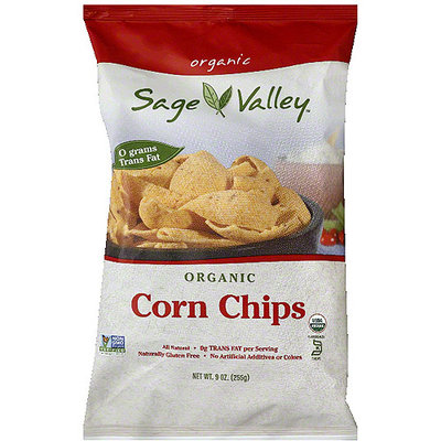 Sage Valley Organic Corn Chips, 9 oz, (Pack of 12)
