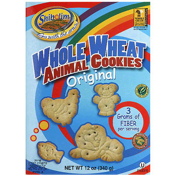 Shibolim Whole Wheat Original Animal Cookies, 12 oz, (Pack of 12)