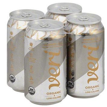 Veri Organic Ginger Ale Soda, 48 fl oz, (Pack of 3)