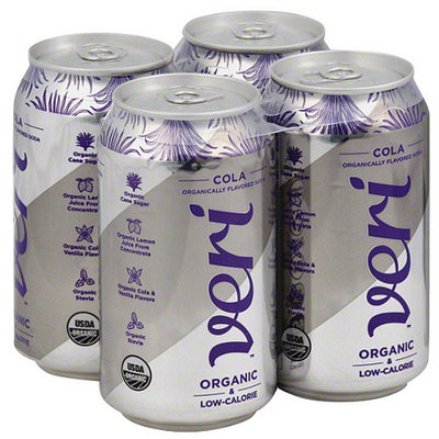 Veri Organic Cola Soda, 4 count, 48 fl oz, (Pack of 3)