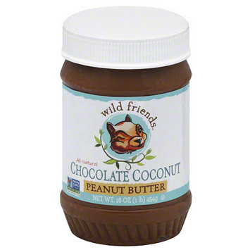 Wild Friends Chocolate Coconut Peanut Butter, 16 oz, (Pack of 6)
