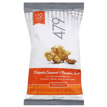 479 Degrees Chipotle Caramel + Pumpkin Seeds Artisan Popcorn, 5 oz, (Pack of 12)