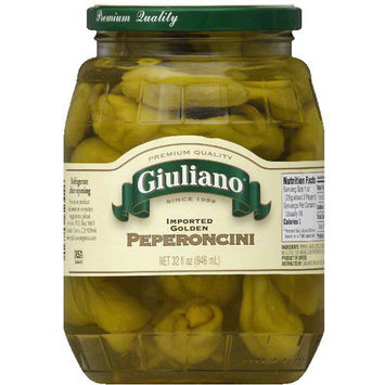 Giuliano Imported Golden Peperoncini, 32 fl oz, (Pack of 6)