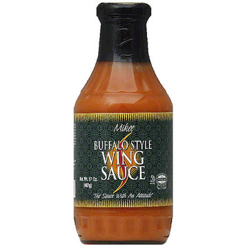 Mikee Buffalo Style Wing Sauce, 17 oz, (Pack of 12)