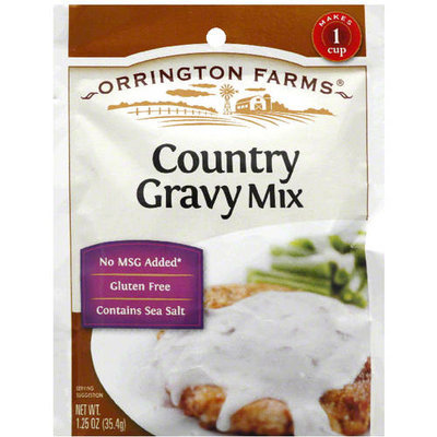 Orrington Farms Country Gravy Mix, 1.25 oz, (Pack of 6)