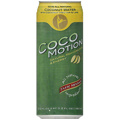 Taste Nirvana CocoMotion Coconut Water with Coconut Nectar & Lime, 16.2 fl oz, (Pack of 12)