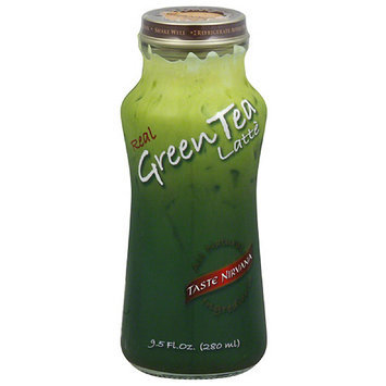 Taste Nirvana Real Green Tea Latte, 9.5 fl oz, (Pack of 12)