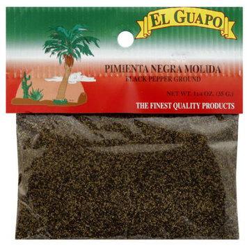 El Guapo Ground Black Pepper, 1.25 oz, (Pack of 12)