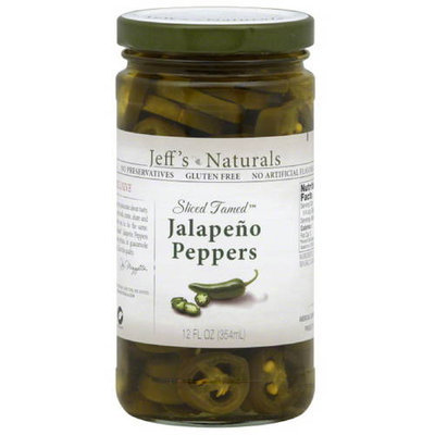 Jeffs Naturals Jeff's Naturals Sliced Tamed Jalapeno Peppers, 12 fl oz, (Pack of 6)