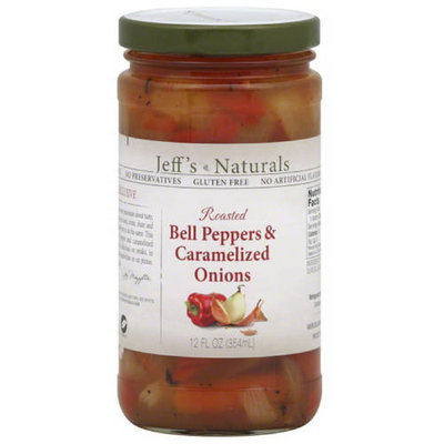 Jeffs Naturals Jeff's Naturals Roasted Bell Peppers & Caramelized Onions, 12 fl oz, (Pack of 6)