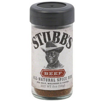 Stubb's Beef All-Natural Spice Rub, 2 oz, (Pack of 6)