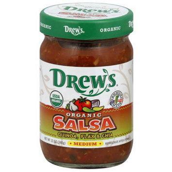 Drews All Natural Drew's Organic Medium Salsa, 12 oz, (Pack of 12)