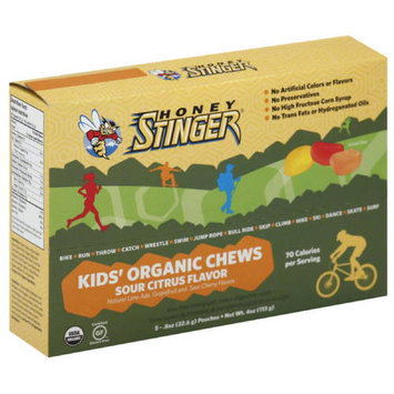 Honey Stinger Sour Citrus Flavor Kids' Organic Chews, 0.5 oz, 8 count