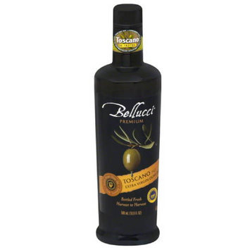 Bellucci Premium Toscano PGI Extra Virgin Olive Oil, 16.9 fl oz, (Pack of 6)