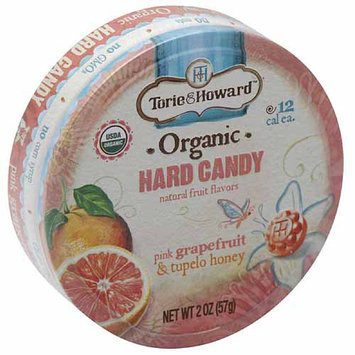 Torie & Howard Pink Grapefruit & Tupelo Honey Organic Hard Candy, 2 oz, (Pack of 8)