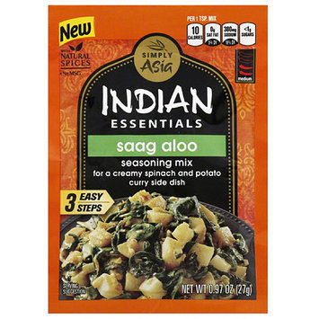 Simply Asia Indian Essentials Saag Aloo Seasoning Mix, 0.97 oz, (Pack of 12)