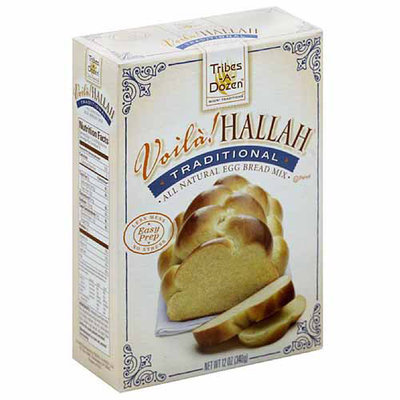 Voila Hallah All Natural Egg Bread Mix, 12 oz, (Pack of 6)