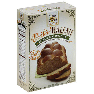 Voila Hallah Voila! Hallah Wholey Wheat All Natural Egg Bread Mix, 12 oz, (Pack of 6)