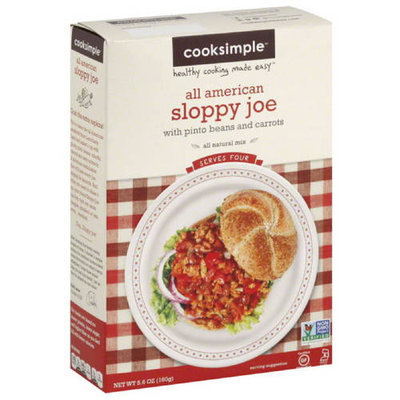 Cooksimple All American Sloppy Joe Mix, 5.6 oz, (Pack of 6)