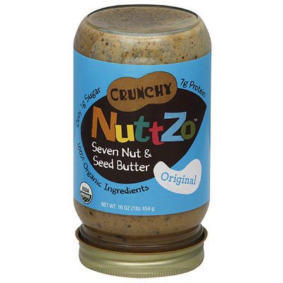 NuttZo Crunchy Original Seven Nut & Seed Butter, 16 oz, (Pack of 6)