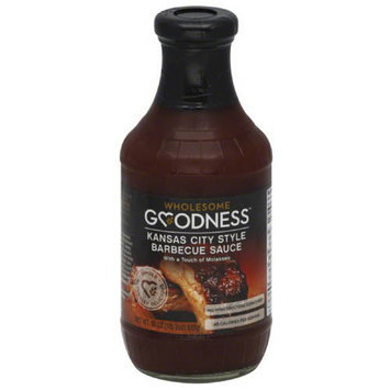 Wholesome Goodness City Style Barbecue Sauce, 18 oz, (Pack of 12)