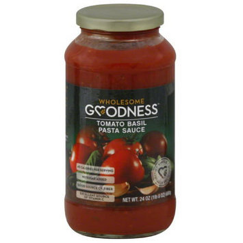 Wholesome Goodness Tomato Basil Pasta Sauce, 24 oz, (Pack of 12)